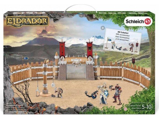Schleich 42273 Bojová aréna se 2 rytíři a příslušenstvím