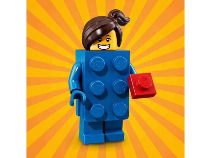 LEGO 71021 minifigurka Kostým Modrá kostka