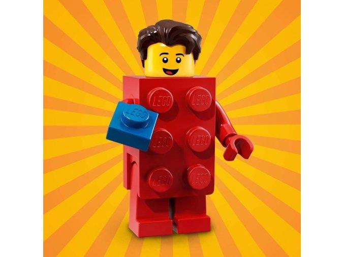 LEGO 71021 minifigurka Kostým Červená kostka