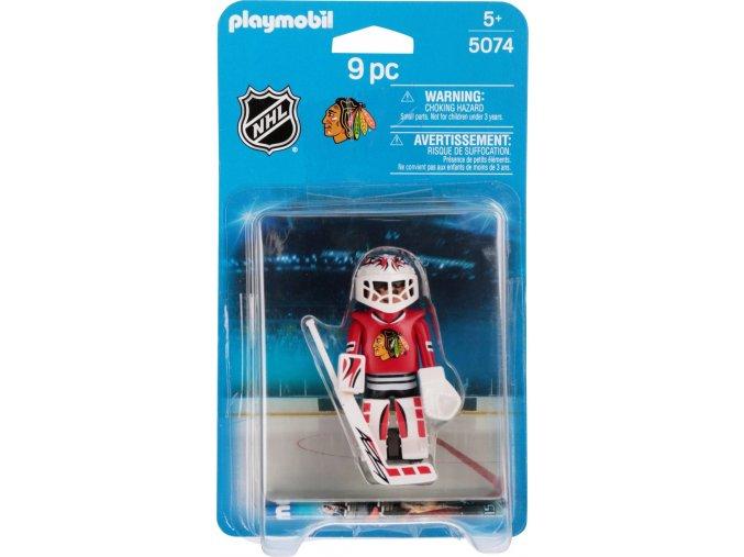 PLAYMOBIL® 5074 NHL Brankář Chicago Blackhawks