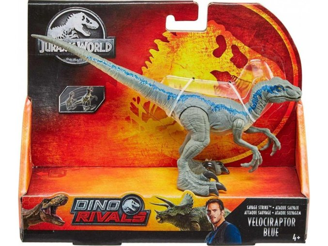 Jurský svět Dino Ničitel Velociraptor Blue 20cm