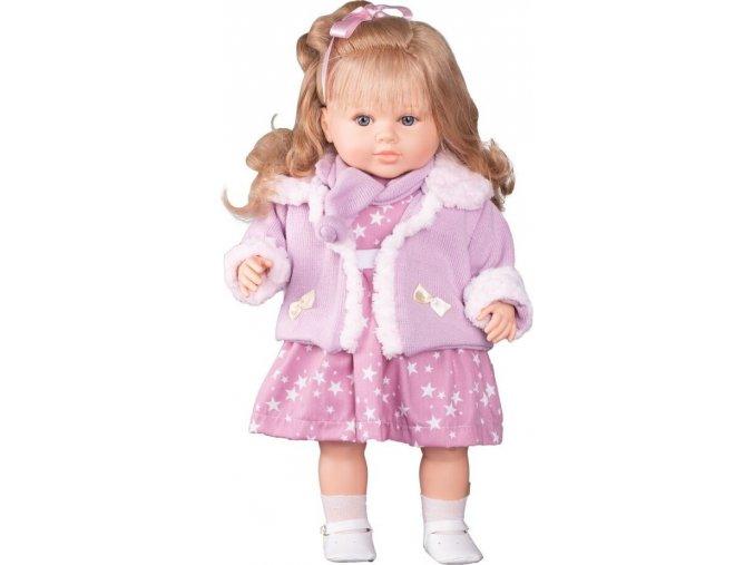 Luxusní mluvící dětská panenka-holčička Berbesa Kristýna 52cm