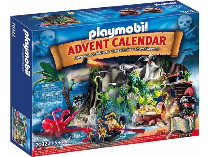 PLAYMOBIL 70322 Adventní kalendář Piráti