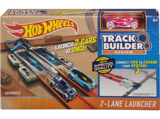 Hot Wheels Track Builder 2 Lane Launcher
