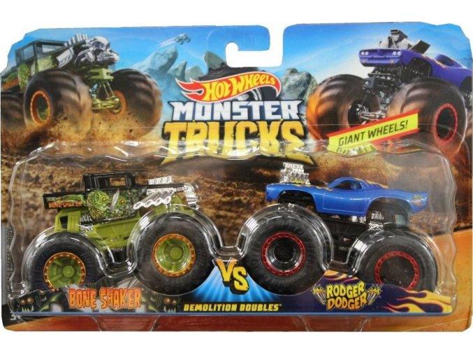Hot Wheels® Monster Trucks Bone Shaker vs Rodger Dodger