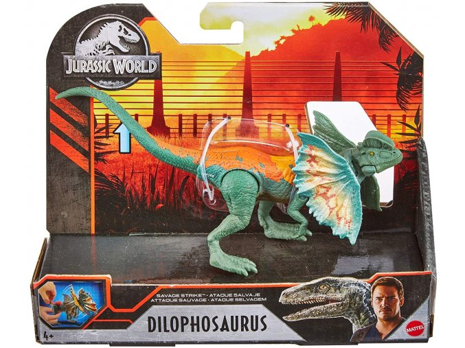 mattel GNJ21 jurassic world savage strike dilophosaurus 07