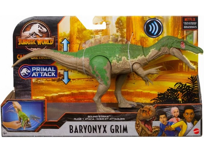 Jurassic World Mattel Primal Attack Camp Cretaceous Toys Baryonyx grim 01 x.png