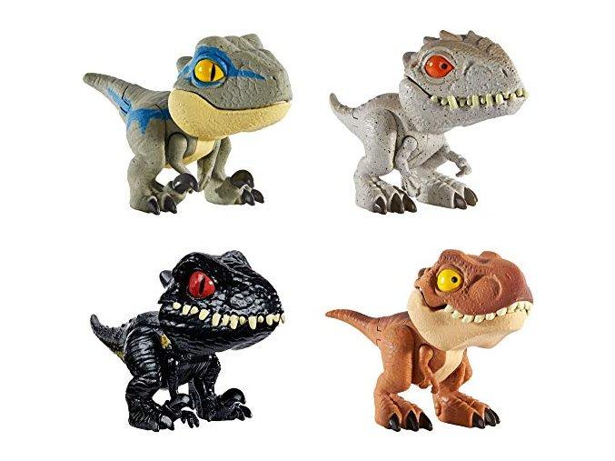 Jursky svet SNAP SQUAD kolekce dinosauru Velociraptor Blue Tyrannosaurus Rex Indoraptor Indominus Rex 1