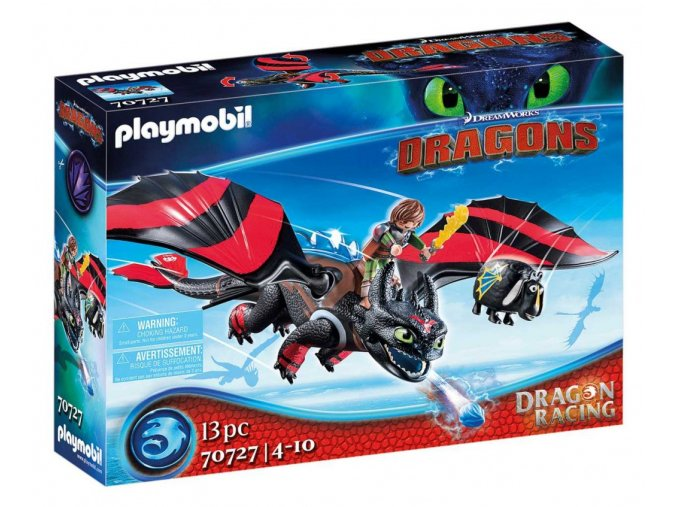 PLAYMOBIL 70727 Dragon Racing: Škyťák a Bezzubka