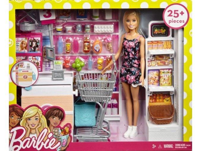 Barbie Supermarket herní set
