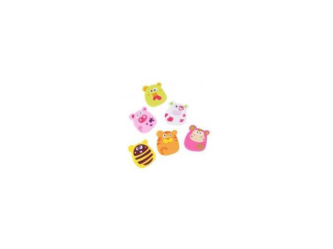 Hračky do koupele - zvířátka s přísavkami pro dívku 6ks