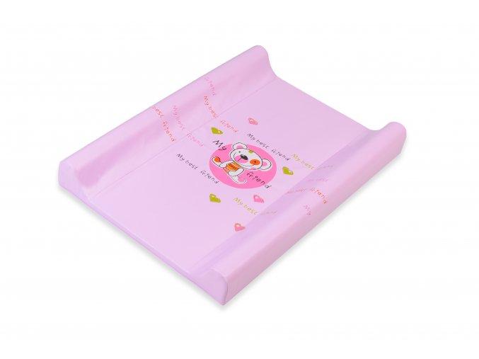 Matrace přebal. DINO M 70, měkká, ružový medvěd, 137
