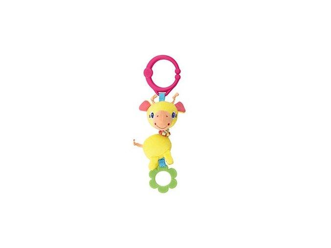 Hračka na C-kroužku Shimmy Shakers, Žirafa  0m+