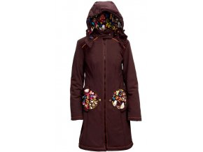 Liliputi kabát na nošení dětí Bajka hnědý