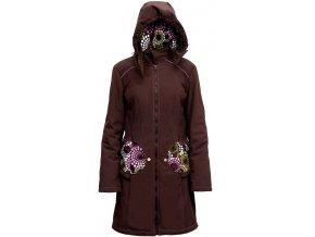 Liliputi kabát na nošení dětí Levandule hnědý