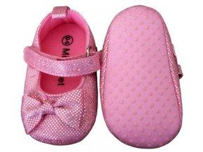 MiniFeet dětské balerínky růžové