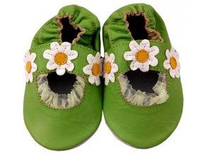 MiniFeet capáčky sandálky sedmikrásky zelené