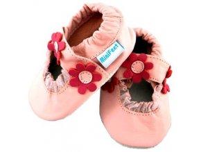 MiniFeet capáčky sandálky sedmikrásky světle růžové