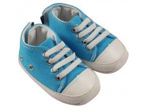 MiniFeet dětské tenisky tyrkysově modré