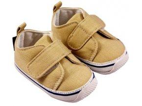 MiniFeet dětské tenisky suchý zip béžové