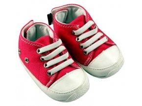 MiniFeet dětské tenisky tmavě růžové