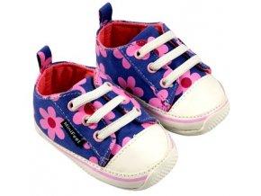 MiniFeet dětské tenisky sedmikrásky fialové