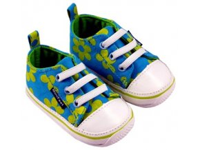 MiniFeet dětské tenisky sedmikrásky modrozelené
