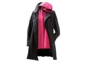 Mamalila celoroční trenčkot těhotenský kabát svyjímatelnou mikinou černorůžový