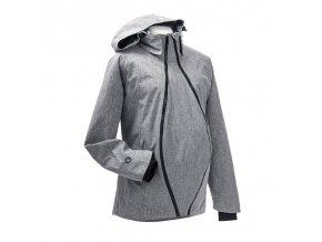 Mamalila zimní těhotenská a nosící bunda s texturou šedá