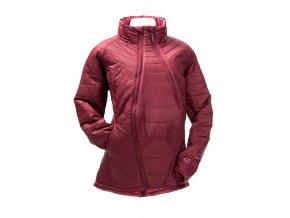 Mamalila prošívaná těhotenská a nosící bunda pro dva růžová