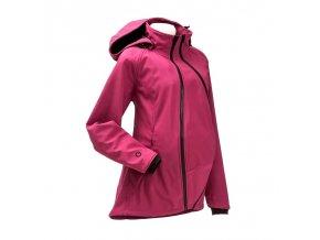 Mamalila softshell těhotenská a nosící bunda pro dva do každého počasí růžová