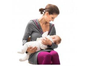 Mamalila těhotenská a kojící tunika Mia šedá