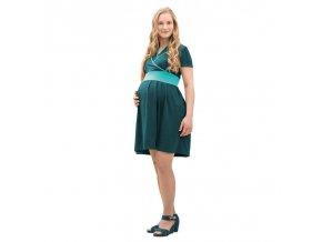 Mamalila těhotenské a kojící šaty Ennie zelené