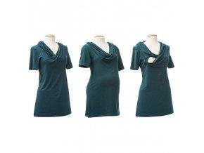 Mamalila těhotenské a kojící tričko Emma zelené