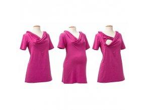 Mamalila těhotenské a kojící tričko Emma růžové