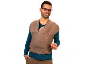 Liliputi elastický šátek světle hnědý