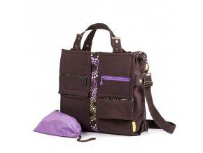 Liliputi přebalovací taška Levandule hnědá