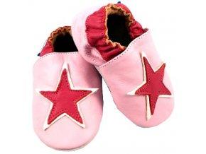 MiniFeet capáčky hvězda růžové