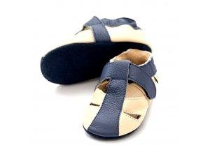Liliputi kožené capáčky sandálky Atacama tmavě šedé