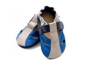 Liliputi kožené capáčky sandálky Atacama modré