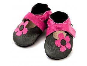 Liliputi kožené capáčky sandálky Kalahari růžové