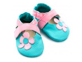 Liliputi kožené capáčky sandálky Kalahari modré