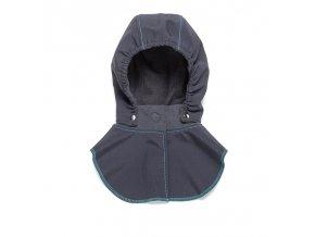 Liliputi dětská kapuce ke kabátu Lebky šedá