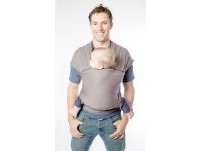 moby wrap classic slate elasticky satek moby hnedy noseni deti