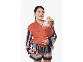 moby wrap classic spice elasticky satek moby oranzovy noseni deti