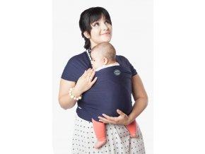 moby wrap classic navy elasticky satek moby modry noseni deti