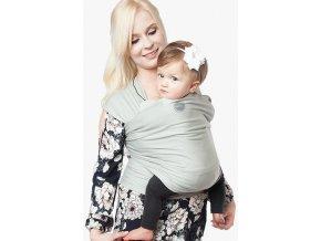 moby wrap organic sage elasticky satek moby organic svetly noseni deti