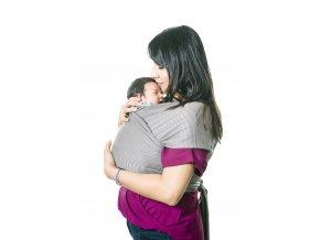 moby wrap designs gray stripes elasticky satek moby design sedy prouzek noseni deti