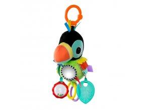 Hračka na C kroužku Playful Pals papoušek 0m+