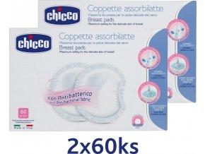 Tampóny do podprsenky antibakteriální 120 ks